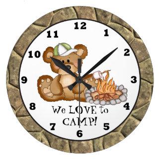 Camping Bear Camper Clock 3