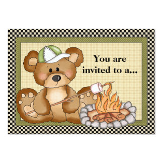 Camping Bear Family Reunion Invitation