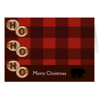 CAMPING BEAR WOODS ADIRONDACK CHRISTMAS CARD