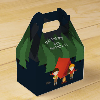 Camping Birthday Party Favor Box