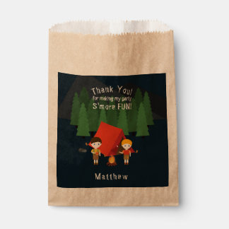 Camping Birthday Party Favour Bag