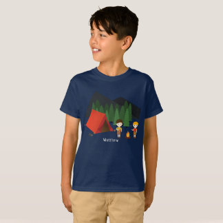 Camping Birthday Party T-Shirt