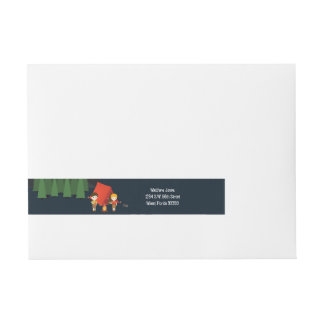 Camping Birthday Party Wraparound Address Label