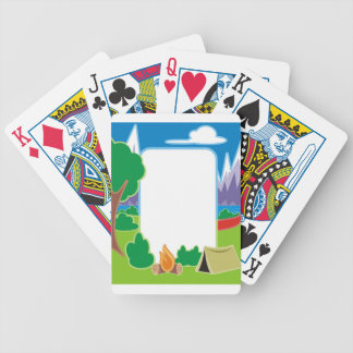 Camping Border Bicycle Playing Cards