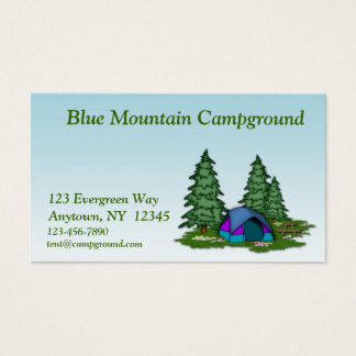 Camping Business Card