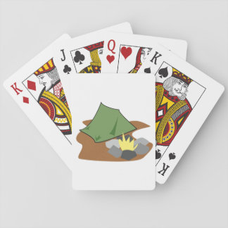 Camping By A Campfire Playing Cards
