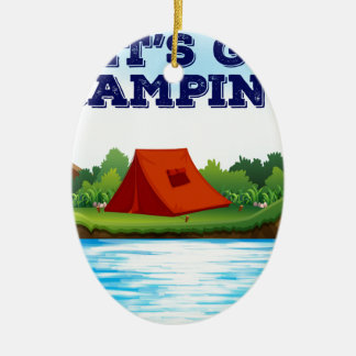Camping Ceramic Ornament