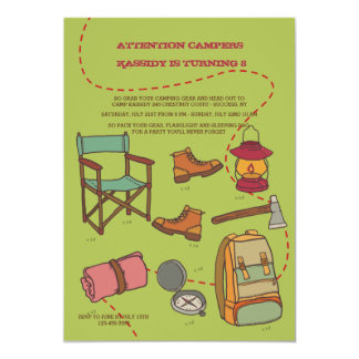 Camping Elements Invitation