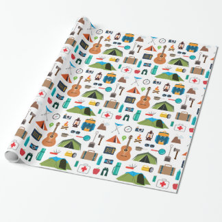 Camping Equipment Wrapping Paper
