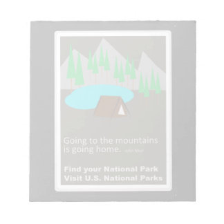 Camping Find your park old school ad design Notepads