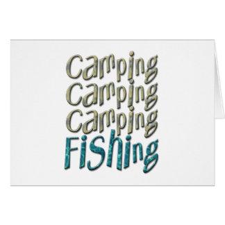 Camping Fishing Greeting Card