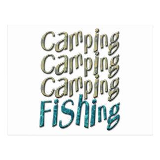 Camping Fishing Post Cards