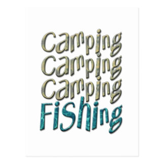 Camping Fishing Postcard