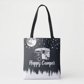Camping Fun Happy Campers Moon Stars Forest Tote Bag