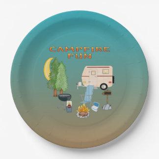 Camping Fun Paper Plates