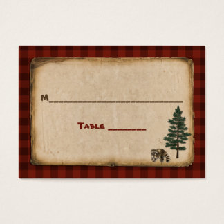Camping, Glamping, Nature Wedding Place Card
