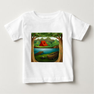 Camping ground baby T-Shirt