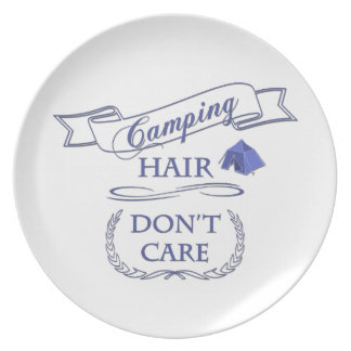 Camping Hair Don't Care Plate