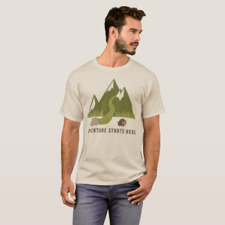 Camping Hiking Adventure Starts Here T-Shirt
