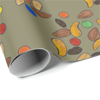 Camping Hiking Trail Mix Snack Camp Foodie Wrap Wrapping Paper