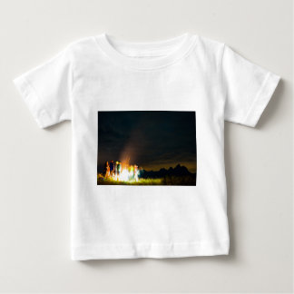 Camping in front of the Teton Range Baby T-Shirt