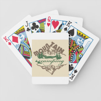 Camping in Mountain Bicycle Playing Cards