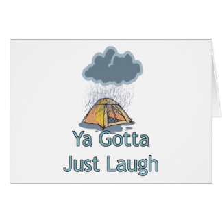 Camping in the Rain Greeting Card
