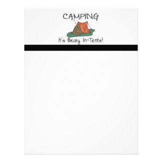Camping Is Beary In Tents Letterhead