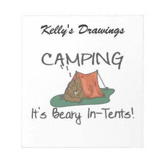 Camping Is Beary In Tents Notepad