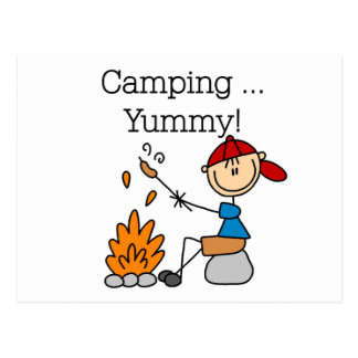 Camping is Yummy Tshirts and Gifts Postcard