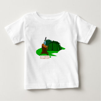 Camping knife and tent baby T-Shirt