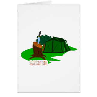 Camping knife and tent card