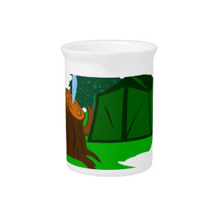 Camping knife and tent drink pitchers