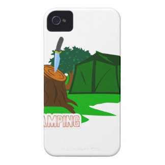 Camping knife and tent iPhone 4 cases