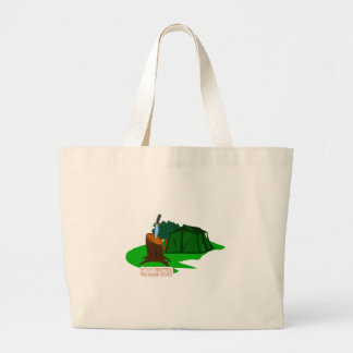 Camping knife and tent large tote bag