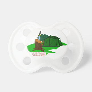 Camping knife and tent pacifier