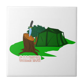 Camping knife and tent tile