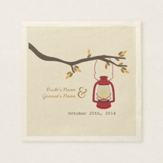 Camping Lantern Fall Wedding Napkins Disposable Napkin