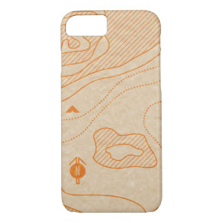 Camping Map phone case