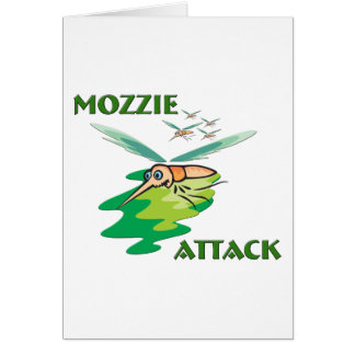 Camping Mozzie Greeting Card
