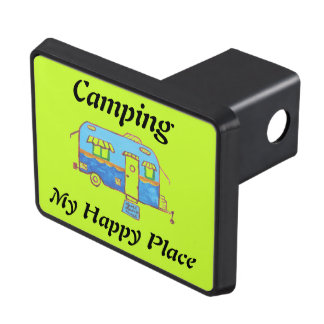 Camping My Happy Place Trailer Hitch Cover