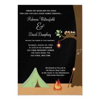 Camping Nature Theme Wedding Invitation