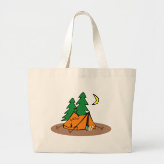 Camping Outside Large Tote Bag