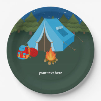 Camping Paper Plate