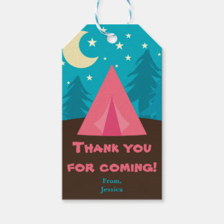 Camping Party Gift Tags