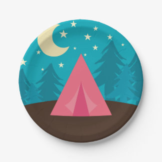 Camping Party Paper Plate