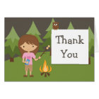 Camping Party Thank You Card