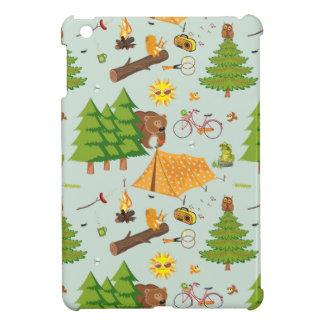 Camping Pattern iPad Mini Cover