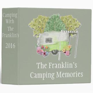 Camping Photo Album Vinyl Binder