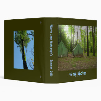 Camping Photo Album Vinyl Binder